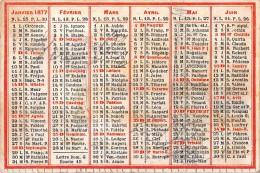 "04052 ""CALENDARIETTO 1877 - LETTRE DOM G. - EPACTE 15"" - Calendari"