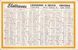 """04053 """"ELETTROSEC - LAVAGGIO A SECCO - TINTORIA - TORINO - CALENDARIETTO 1948"""" - Calendari"""