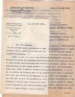 VP3631 - Lettres De L´Association Des Ingénieurs Des Manufactures De L´Etat & Du Service D´Exploitatoin à PARIS - Documentos