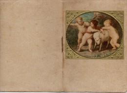 """04057 """"CALENDARIETTO 1928 - ILLUSTRATO DA RIPRODUZIONI DI QUADRI ANTICHI CON PUTTI E ANGIOLETTI - Calendars"""