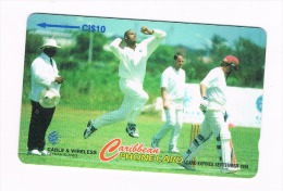 ISOLE CAYMAN - CABLE & WIRELESS  (GPT) - 1997 CRICKET: COURTNEY WALSH CODE 224CCIC   USED -  RIF. 9034 - Isole Caiman