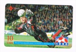 STATI UNITI (USA) - SPRINT (REMOTE) - 1998 FOOTBALL: SCOTLAND VS. AUSTRIA - SAMPLE CARD WITH CODE 000-000-0000 -RIF.9040 - United States