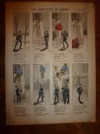 1892 IMAGE D'EPINAL :n°150 UNE ARRESTATION DE PANDORE Sur L'air De  LA CHANSON DES GENDARMES , De Nadaud - Verzamelingen