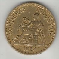 VOIR SCAN !!! 2 FRANCS  CHAMBRE DE COMMERCE 1924 TTB +++ - I. 2 Francs