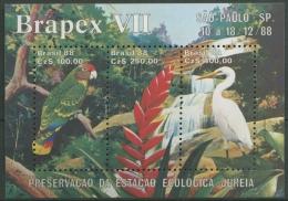Brasilien 1988 Papagei, Silberreiher Block 76 Postfrisch (C11699) - Brasilien