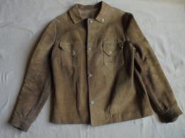 Ancien - Blouson En Daim Fille/femme T 36 Années 60 - Vintage Clothes & Linen