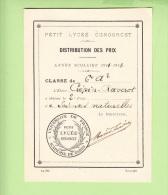 PARIS - Petit Lycée CONDORCET - Distribution PRIX 1912 à Crépin Raverot - Une Pensée - Lire Descriptif - 3 Scans - Arrondissement: 08