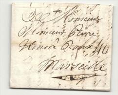 Portugal - Lisbonne Pour Marseille (Bouches Du RHone) 1761 - 1801-1848: Precursors XIX