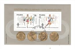 POLONIA - 1984 BF OBLITERATO DEDICATO AGLI ATLETI POLACCHI VINCITORI A LOS ANGELES NEL 1932 - IN  OTTIME CONDIZIONI.