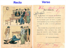 Bons Points Instructifs   -  Pari Imbécile (alcoolisme)  - Ed Nathan 1918 - Other Collections