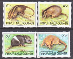 PAPUA  NEW  GUINEA  798-801     **  RODENTS - Rodents
