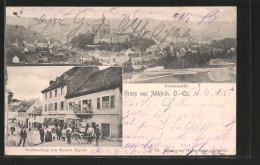 CPA Altkirch, Weinhandlung Von M. Higelin, Vue Générale - Altkirch