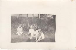 Real Photo Taken In August 1918 - Children - Unknown Location - 2 Scans - Postcards