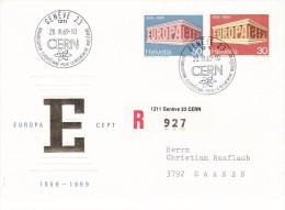 SWITZERLAND 1969  EUROPA CEPT FDC R-COVER - 1969