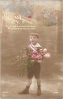 CPA COLORISEE FETE -  BONNE ANNEE - Enfant Pensant à Son Père Pendant La Guerre De 1914 - ENCH1202 - Neujahr