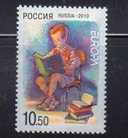 Russia 2010 - One Europa-CEPT Europe Children`s Books Europa CEPT Stamp Issue Child Book Stamp MNH Michel 1641 - Unclassified
