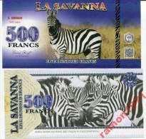 La Savanna 500 Francs 2015 UNC - Specimen