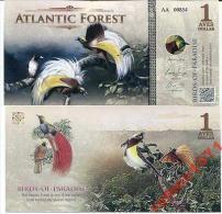ATLANTIC FOREST 1 AVES DOLLARS 2015 UNC - Bankbiljetten