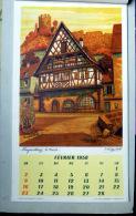 67 ALSACE  J .KLIPPSTIEHL CALENDRIER AVEC 12 ILLUSTRATIONS DE KLIPPSTIEHL 1958 MULHOUSE COLMAR RIQUEWIHR BERGHEIM - Estampes & Gravures