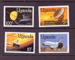OUGANDA-UGANDA  1982 ESPACE   YVERT N°283/86  NEUF MNH** - Espace