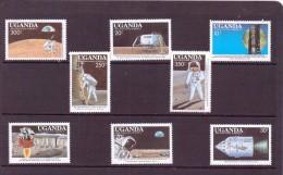 OUGANDA-UGANDA  1989 ESPACE   YVERT N°595/98-603/06  NEUF MNH** - Space