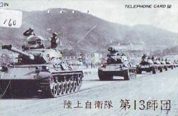 Télécarte JAPON * WAR TANK (160) MILITAIRY LEGER ARMEE PANZER Char De Guerre * KRIEG * JAPAN Phonecard Army - Armée