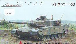 Télécarte JAPON * WAR TANK (162) MILITAIRY LEGER ARMEE PANZER Char De Guerre * KRIEG * JAPAN Phonecard Army - Armee