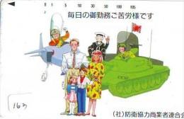 Télécarte JAPON * WAR TANK (163) MILITAIRY LEGER ARMEE PANZER Char De Guerre * KRIEG * JAPAN Phonecard Army - Armee