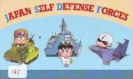 Télécarte JAPON * WAR TANK (165) MILITAIRY LEGER ARMEE PANZER Char De Guerre * KRIEG * JAPAN Phonecard Army - Armee