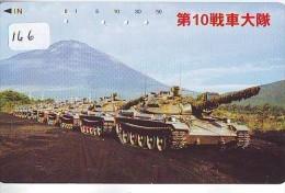 Télécarte JAPON * WAR TANK (166) MILITAIRY LEGER ARMEE PANZER Char De Guerre * KRIEG * JAPAN Phonecard Army - Armee