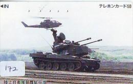 Télécarte JAPON * WAR TANK (172) MILITAIRY LEGER ARMEE PANZER Char De Guerre * KRIEG * JAPAN Phonecard Army - Army