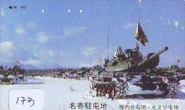 Télécarte JAPON * WAR TANK (173) MILITAIRY LEGER ARMEE PANZER Char De Guerre * KRIEG * JAPAN Phonecard Army - Army