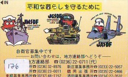 Télécarte JAPON * WAR TANK (176) MILITAIRY LEGER ARMEE PANZER Char De Guerre * KRIEG * JAPAN Phonecard Army - Army