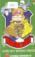 Télécarte JAPON * WAR TANK (180) MILITAIRY LEGER ARMEE PANZER Char De Guerre * KRIEG * JAPAN Phonecard Army - Armee