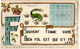 CHAMBORD - Souvent Femme Varie, Bien Fol Est Qui S'y Fie. (Pensée De François 1er). TBE - Chambord