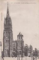 Cp , 29 , LE FOLGOËT , Façade De L'Église Notre-Dame - Le Folgoët