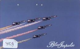 TELECARTE JAPON * MILITAIRY AVION  (459) Flugzeuge * Airplane * Aeroplanos * PHONECARD JAPAN * ARMEE * LEGER VLIEGTUIG - Vliegtuigen
