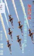 TELECARTE JAPON * MILITAIRY AVION  (460) Flugzeuge * Airplane * Aeroplanos * PHONECARD JAPAN * ARMEE * LEGER VLIEGTUIG - Flugzeuge