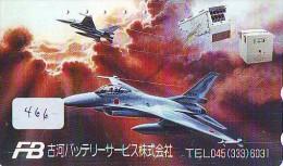 TELECARTE JAPON * MILITAIRY AVION  (466) Flugzeuge * Airplane * Aeroplanos * PHONECARD JAPAN * ARMEE * LEGER VLIEGTUIG - Airplanes
