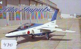 TELECARTE JAPON * MILITAIRY AVION  (470) Flugzeuge * Airplane * Aeroplanos * PHONECARD JAPAN * ARMEE * LEGER VLIEGTUIG - Airplanes