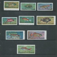 Burundi 1967 Fish Airmail Set 9 Imperforate MNH - 1962-69: Mint/hinged