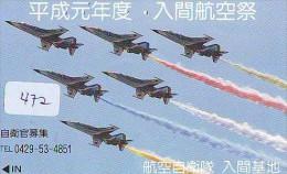 TELECARTE JAPON * MILITAIRY AVION  (472) Flugzeuge * Airplane * Aeroplanos * PHONECARD JAPAN * ARMEE * LEGER VLIEGTUIG - Airplanes