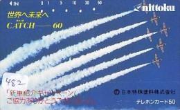 TELECARTE JAPON * MILITAIRY AVION  (482) Flugzeuge * Airplane * Aeroplanos * PHONECARD JAPAN * ARMEE * LEGER VLIEGTUIG - Flugzeuge