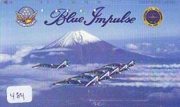 TELECARTE JAPON * MILITAIRY AVION  (484) Flugzeuge * Airplane * Aeroplanos * PHONECARD JAPAN * ARMEE * LEGER VLIEGTUIG - Flugzeuge