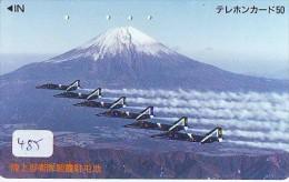 TELECARTE JAPON * MILITAIRY AVION  (485) Flugzeuge * Airplane * Aeroplanos * PHONECARD JAPAN * ARMEE * LEGER VLIEGTUIG - Airplanes
