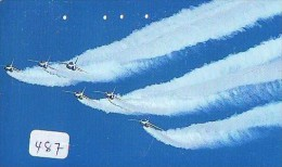 TELECARTE JAPON * MILITAIRY AVION  (487) Flugzeuge * Airplane * Aeroplanos * PHONECARD JAPAN * ARMEE * LEGER VLIEGTUIG - Flugzeuge
