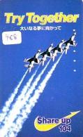 TELECARTE JAPON * MILITAIRY AVION  (488) Flugzeuge * Airplane * Aeroplanos * PHONECARD JAPAN * ARMEE * LEGER VLIEGTUIG - Flugzeuge
