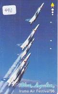 TELECARTE JAPON * MILITAIRY AVION  (490) Flugzeuge * Airplane * Aeroplanos * PHONECARD JAPAN * ARMEE * LEGER VLIEGTUIG - Flugzeuge