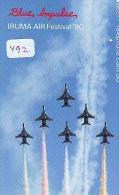 TELECARTE JAPON * MILITAIRY AVION  (492) Flugzeuge * Airplane * Aeroplanos * PHONECARD JAPAN * ARMEE * LEGER VLIEGTUIG - Flugzeuge