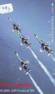 TELECARTE JAPON * MILITAIRY AVION  (493) Flugzeuge * Airplane * Aeroplanos * PHONECARD JAPAN * ARMEE * LEGER VLIEGTUIG - Flugzeuge